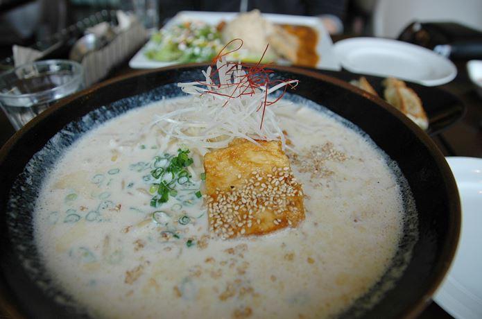 棒ラーメン豆乳スープ