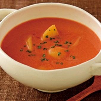 トマト缶でココナッツミルクスープ