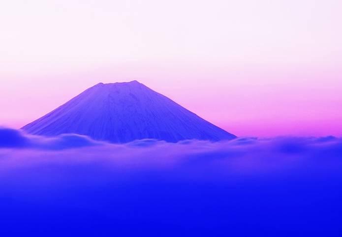 富士山 画像 明け方