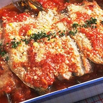 トマト缶でいわしのオーブン焼き