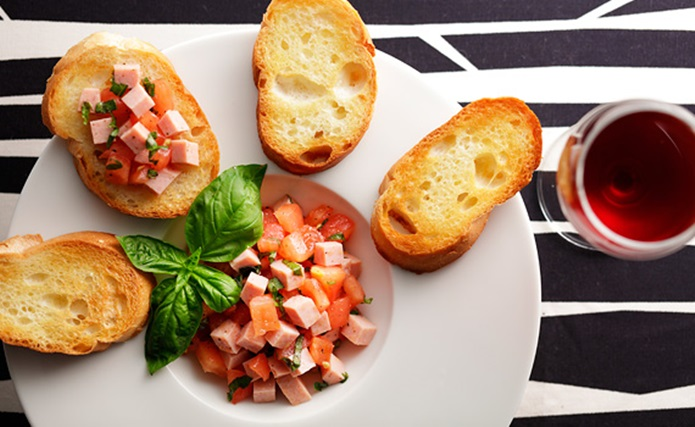 魚肉ソーセージ料理