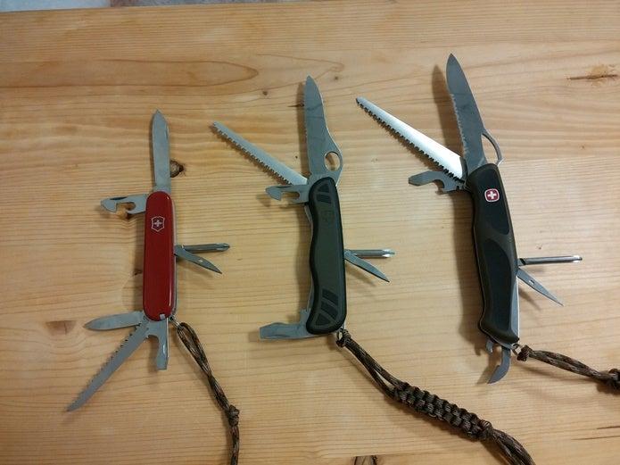 ビクトリノックスのナイフ3つ
