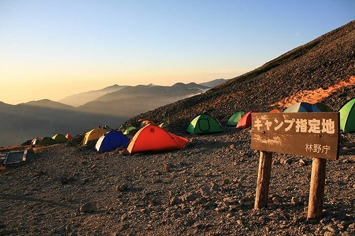 テント泊 キャンプ指定地
