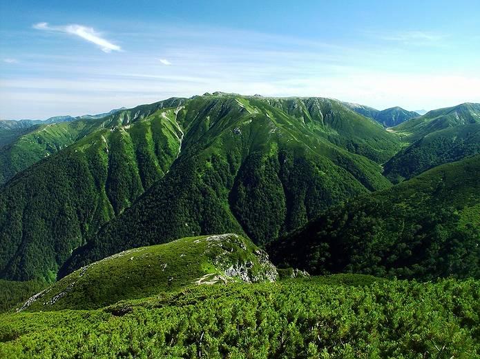 北アルプス 双六岳