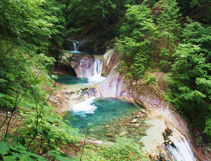 西沢渓谷の滝
