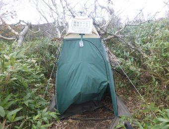 山での携帯トイレ
