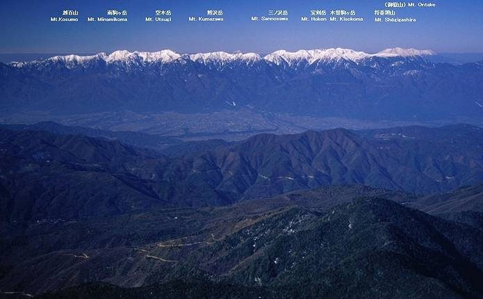中央アルプス 木曽山脈