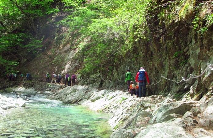西沢渓谷をハイキング