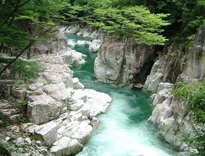 森林浴ができる匹見峡