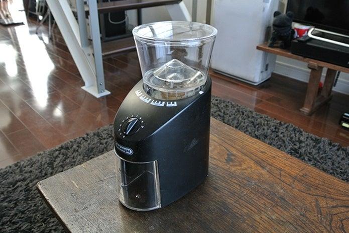 電動のコーヒーミル