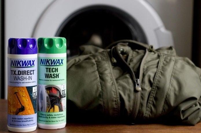 ゴアテックス洗濯用の洗剤とウェア