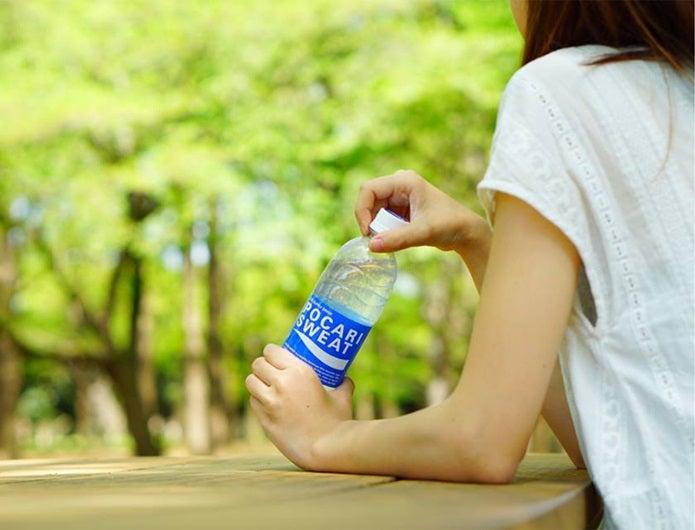脱水症状予防にドリンクを飲む人