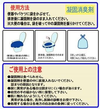 携帯トイレの使用方法説明図