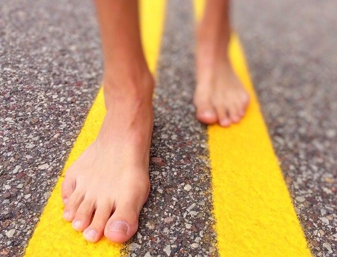靴擦れ 足の形