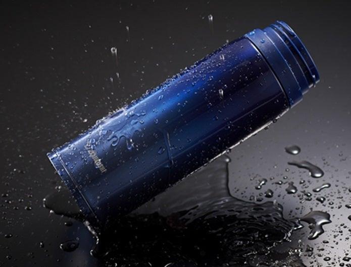 象印の青い水筒
