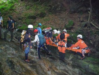 山岳救助訓練の画像