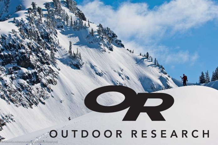 アウトドアリサーチのロゴと雪山