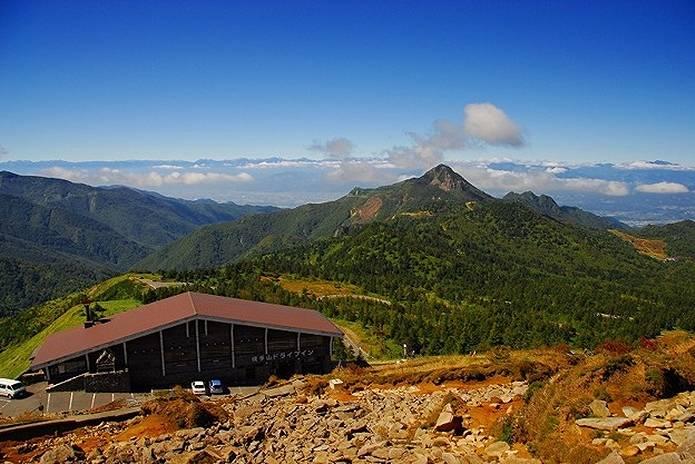 高原 志賀高原 横手山からの風景