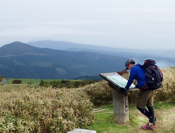 登山ブログを見てから登山に来た男性