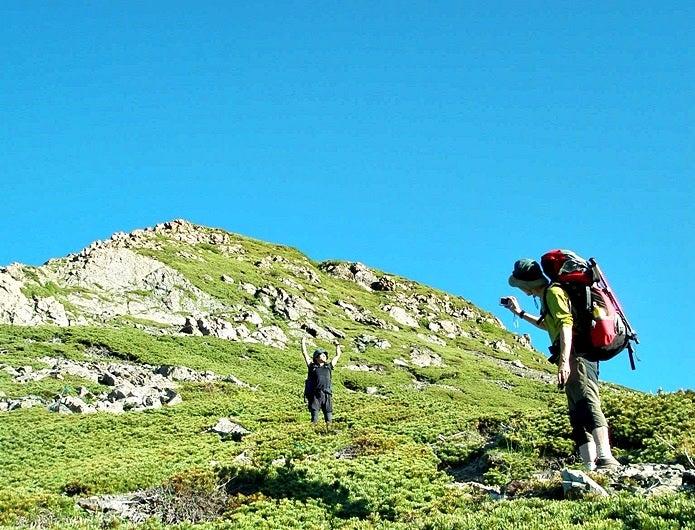 登山ブログにのせる写真を撮る人