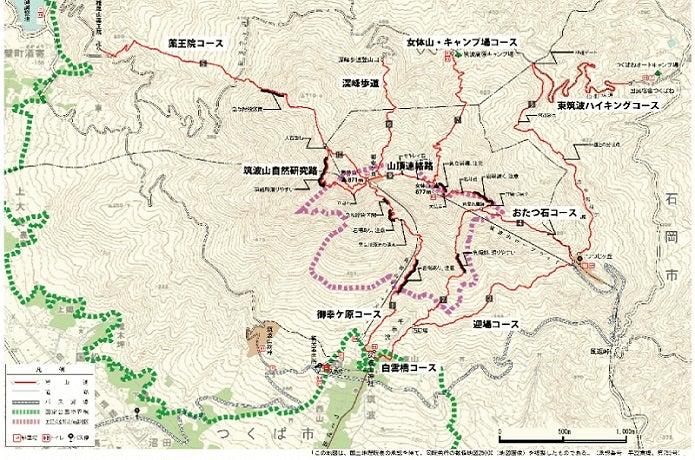 筑波山コースマップ