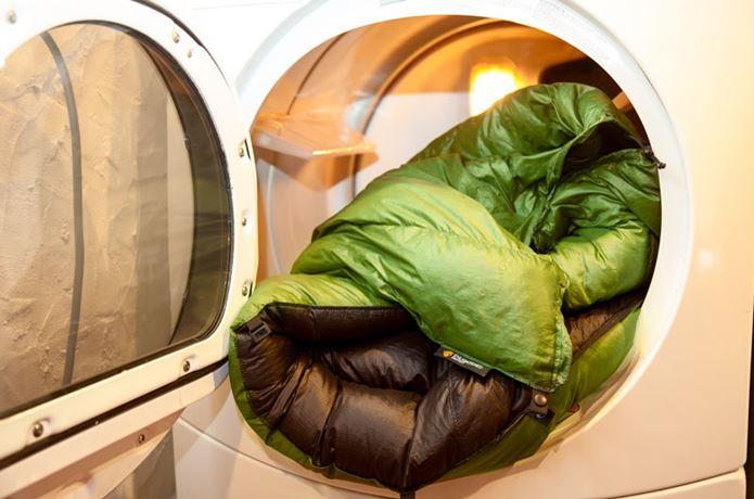 寝袋の洗濯後