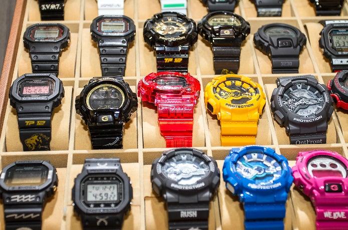 たくさんのG-SHOCKの腕時計