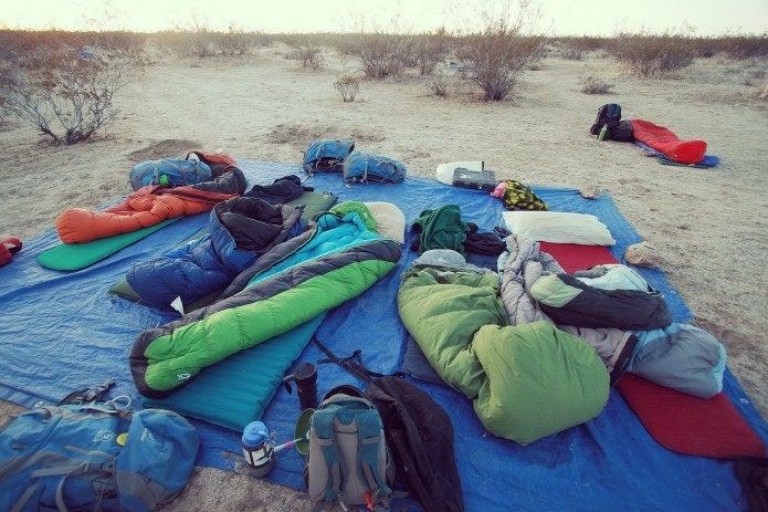 寝袋と寝袋マット