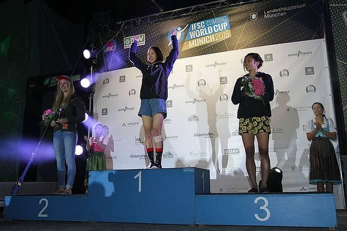 スポーツクライミング 女子選手 2015優勝