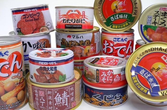 色々な種類の缶詰