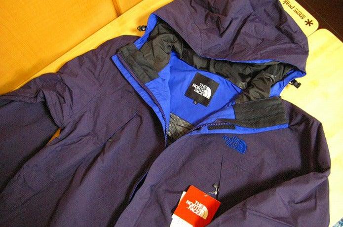 青いスクープジャケット