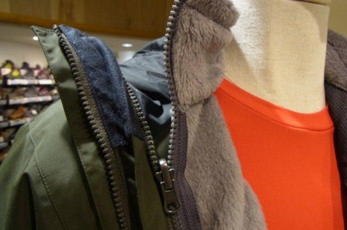 スクープジャケットのZipinZipシステム