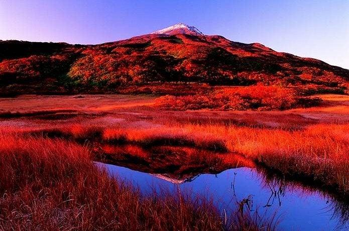 紅葉 登山 鳥海山