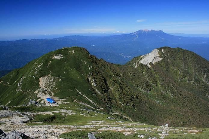 百名山難易度 木曽駒からの景色