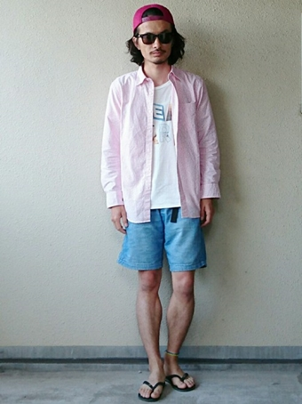 グラミチのデニムを使用したファッション