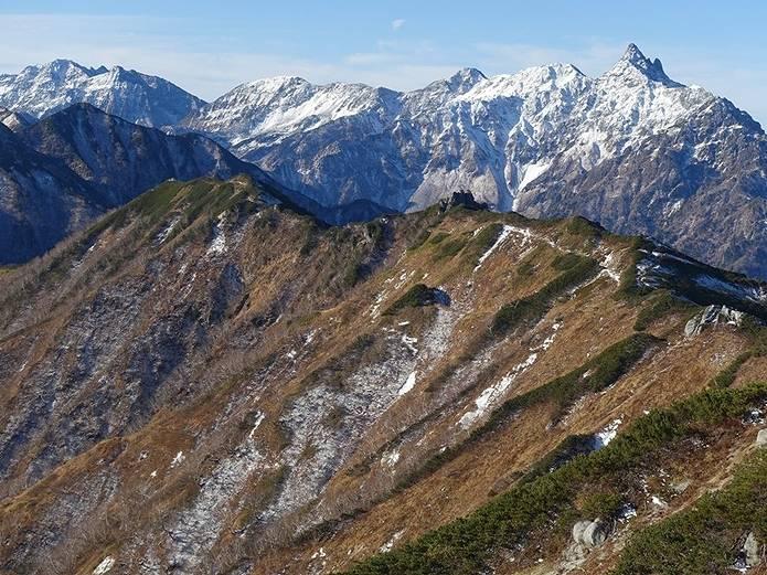 秋山の注意点 北ア初雪