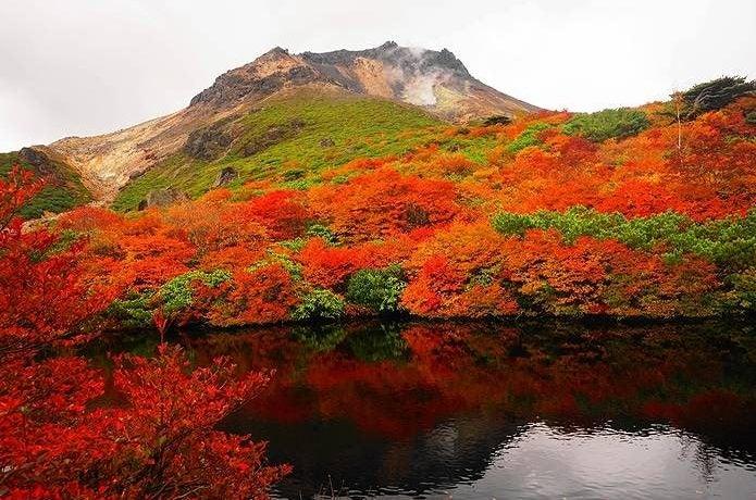 紅葉 登山 那須岳