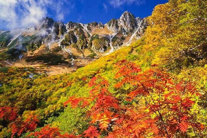 紅葉 登山 中央アルプス