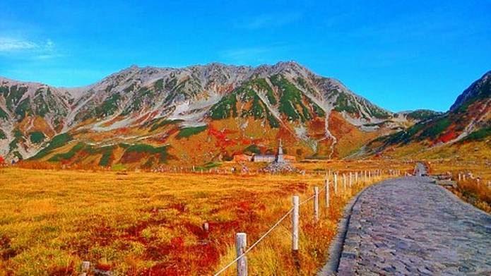 紅葉 登山 立山室堂
