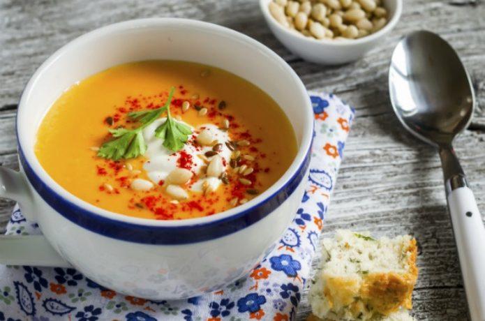 高カロリー食品のスープ