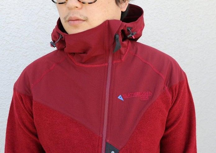 クレッタルムーセンの赤いアウター