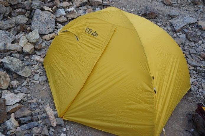 プロモンテの黄色いテント