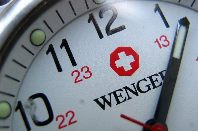 ウェンガーの腕時計の盤面