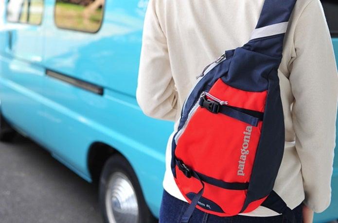 パタゴニアのスリングバッグ