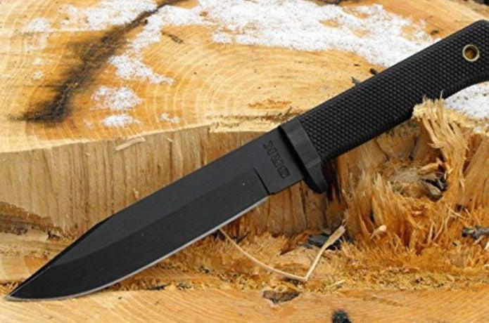 黒いサバイバルナイフ