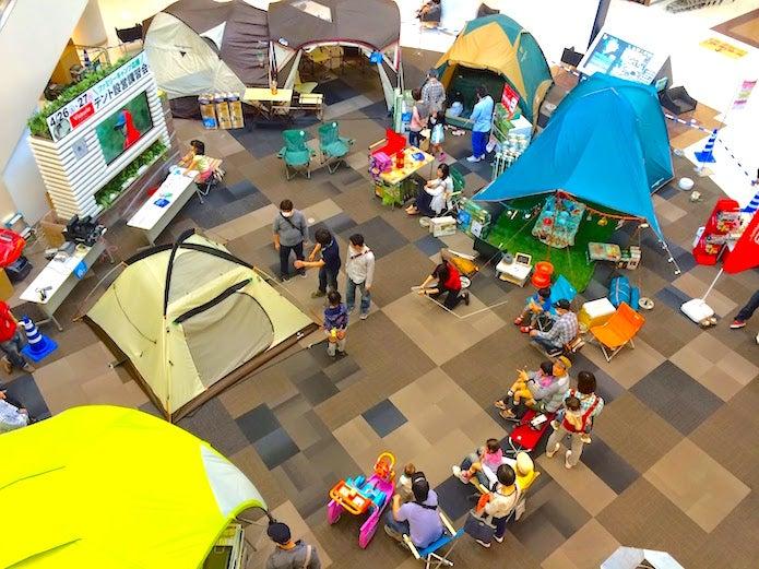 テント設営の講習会