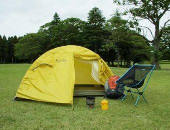 プロモンテのテントを設営