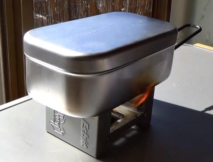 エスビットので米を炊く