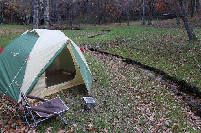 ノースイーグルのテントを張ったところ