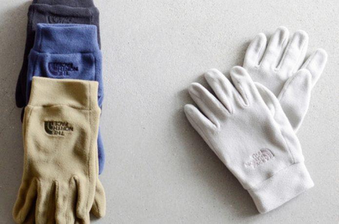 ノースフェイスのインナー用手袋